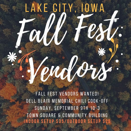 Looking for Fall Fest vendors!